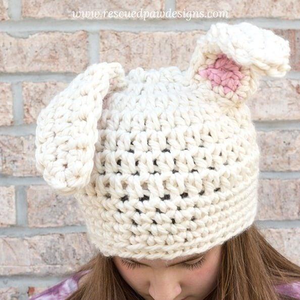 Crochet Bunny Ears Hat Pattern