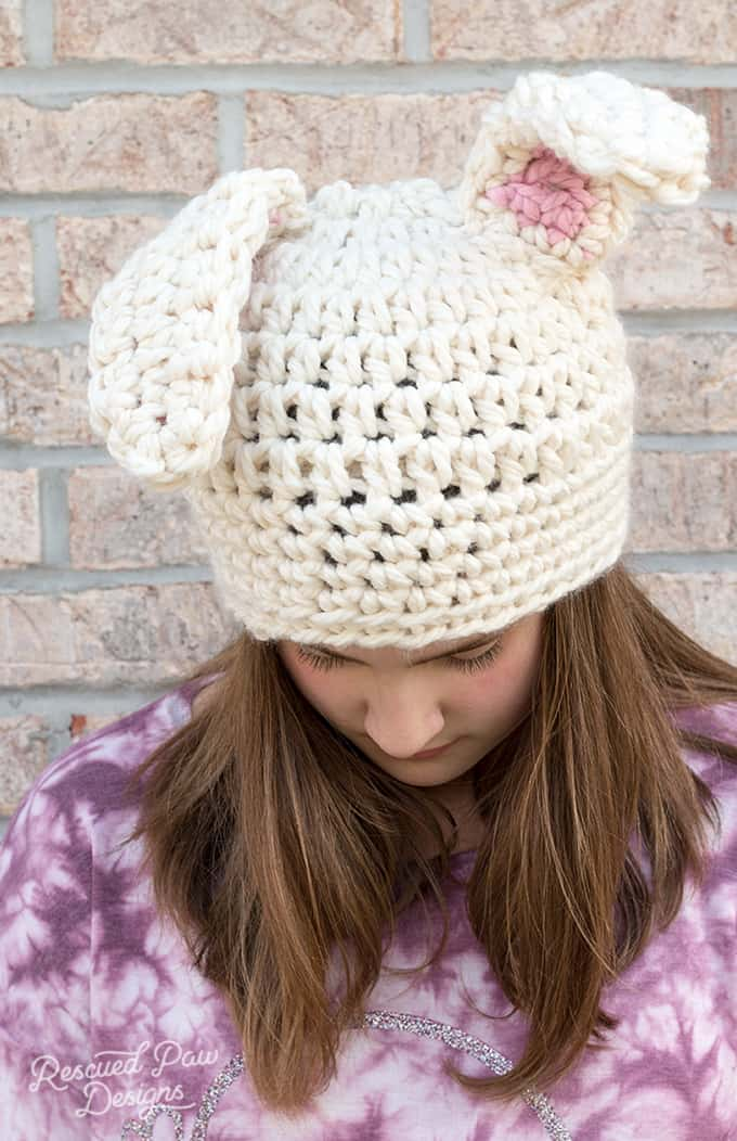 Floppy Crochet Bunny Ears Hat