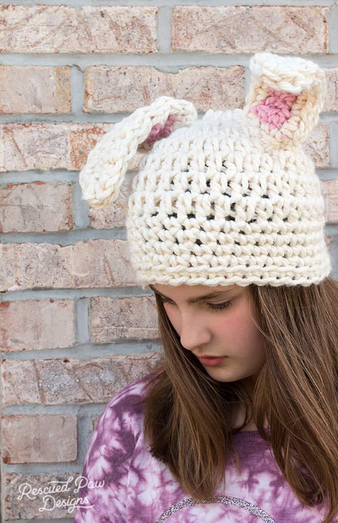 Crochet Bunny Ears Hat Pattern