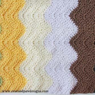 Striped Crochet Chevron Baby Blanket