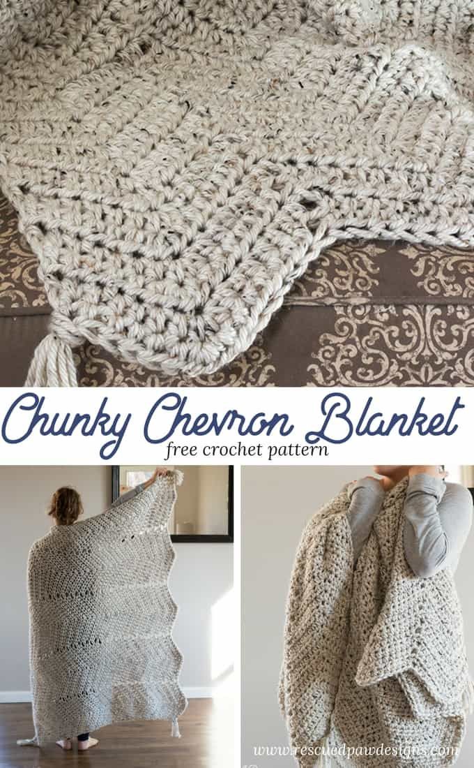 chevron crochet blanket pattern simple