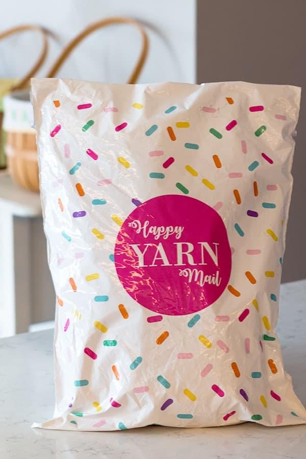 Happy Yarn Mail Bag