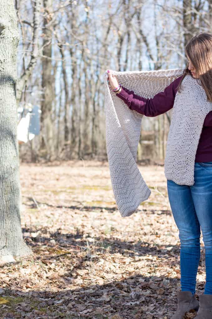 Wrap Chevron Crochet Pattern