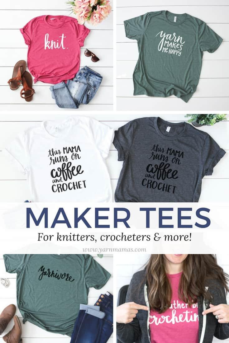 Funny Crochet T-Shirts from Yarn Mamas