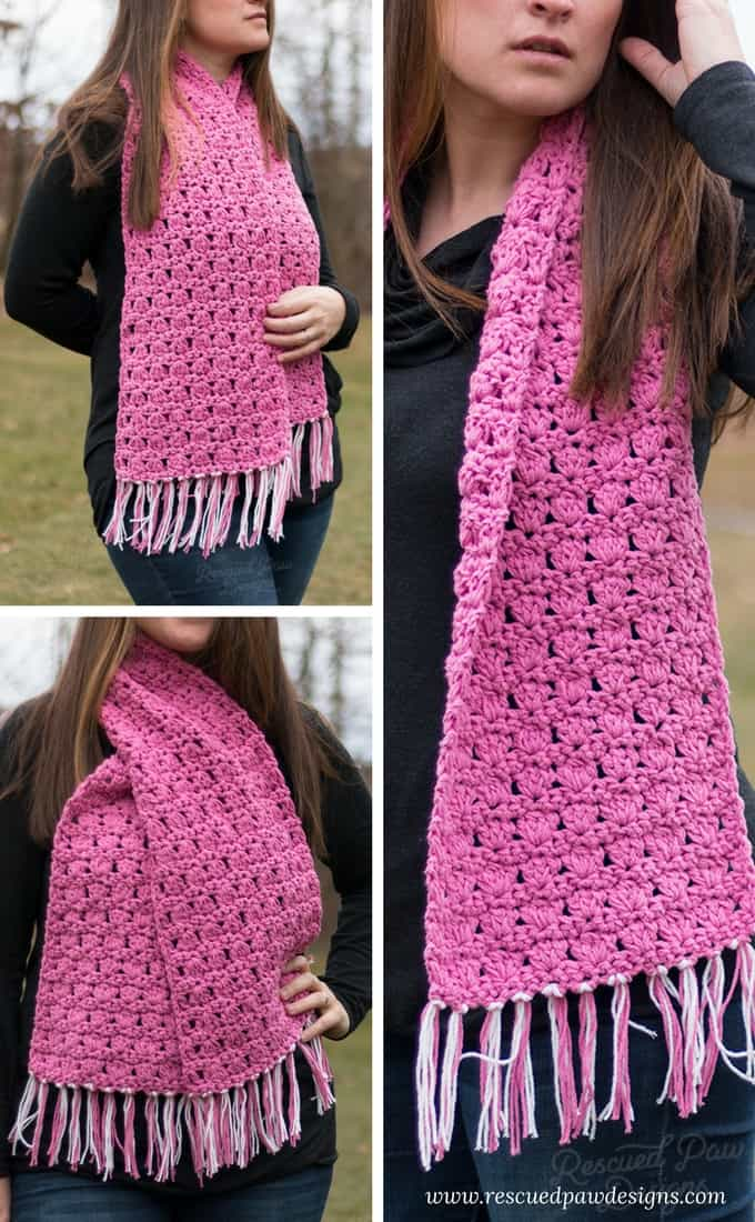 Pretty in Pink Scarf Crochet Pattern