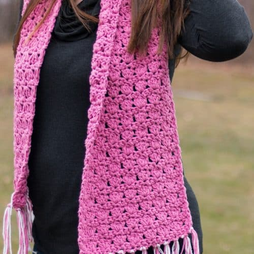 Pretty in Pink Crochet Scarf