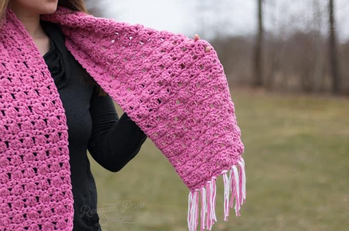 Pink Crochet Scarf Pattern