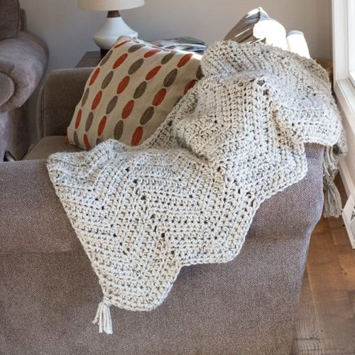 Super Chunky Chevron Crochet Blanket