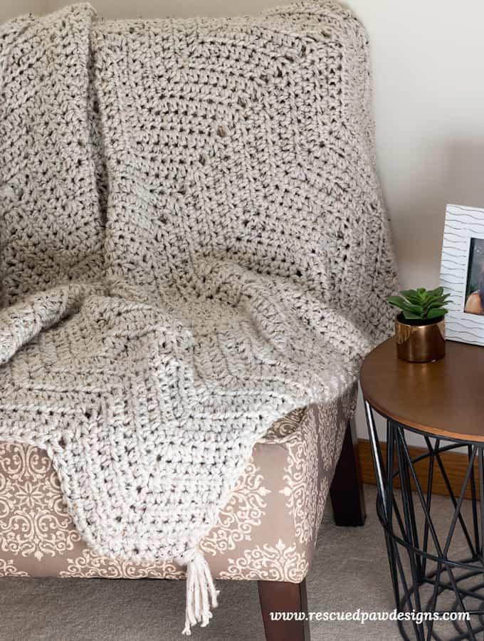 Chunky crochet blanket pattern free