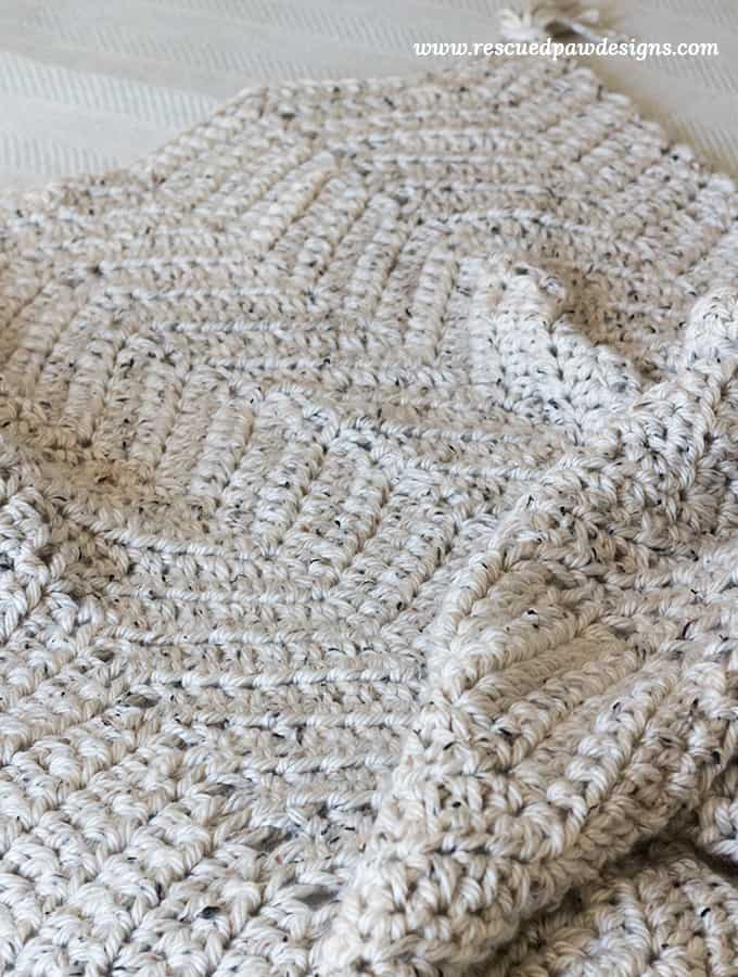 Super Chunky Crochet Throw Blanket Pattern Free