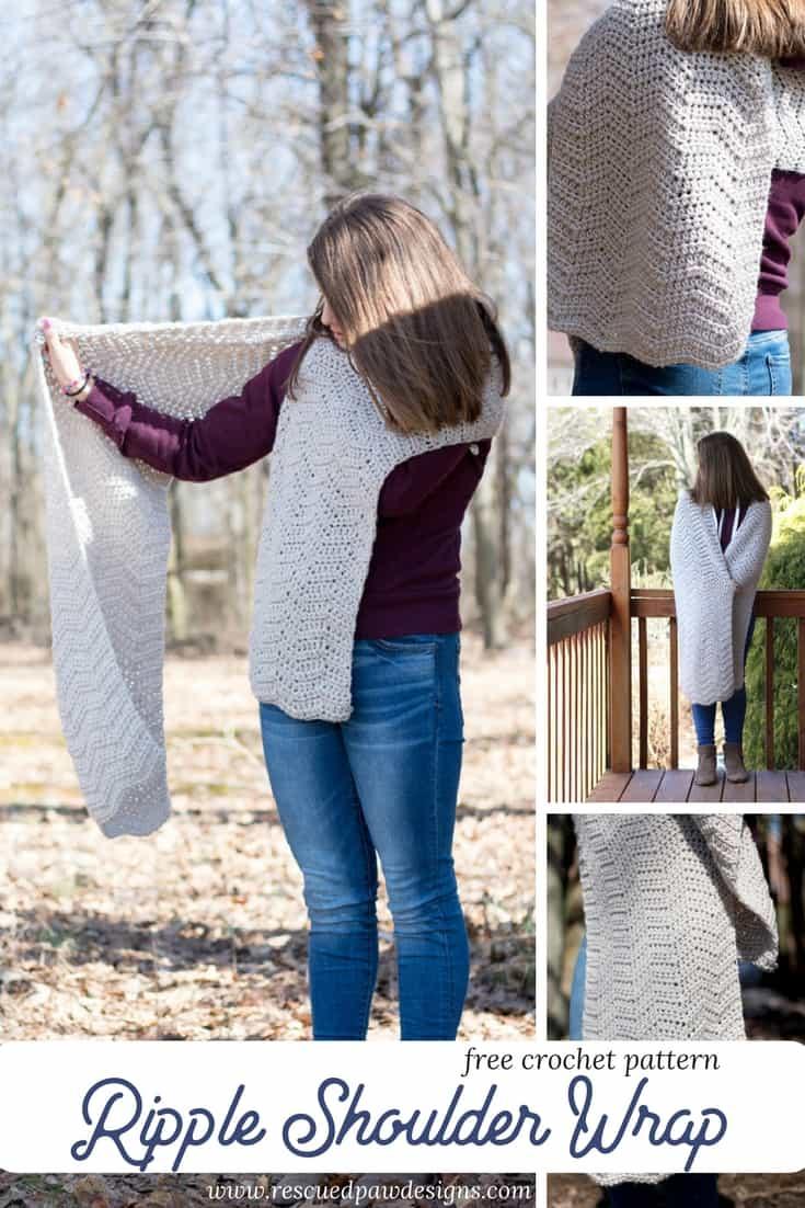 Ripple Shoulder Wrap Crochet Pattern