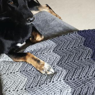 Chevron Ripple Crochet Blanket Pattern
