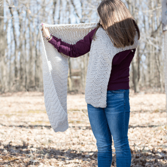 Crochet Wrap Chevron Pattern