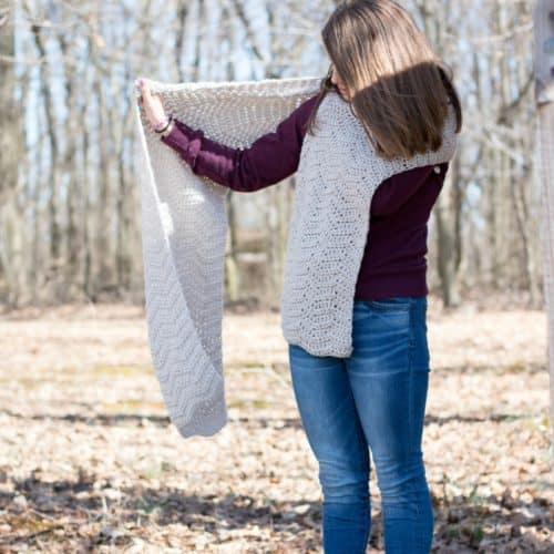 Isle Wave Crochet Wrap Pattern