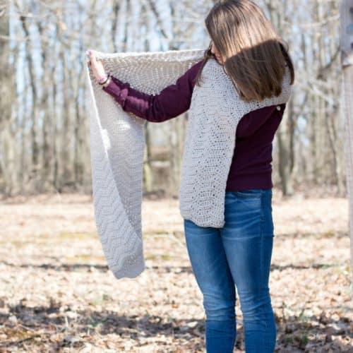 Isle Wave Crochet Wrap Pattern