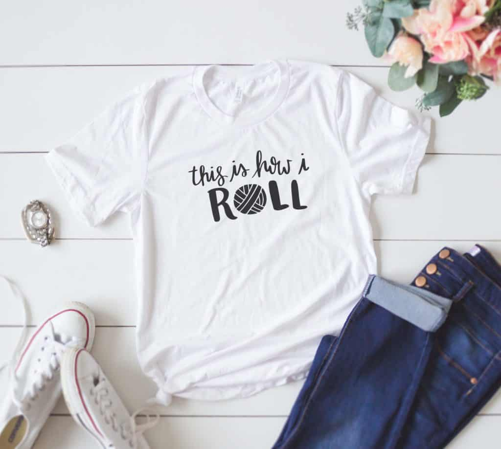 This is How I roll T shirt - Crochet Tee Shirt - Knitting Shirt