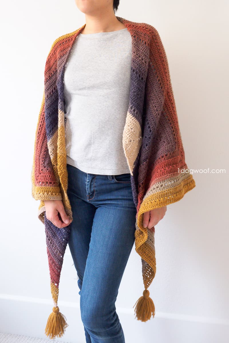 Crochet Wrap Pattern from One Dog Woof