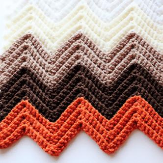 Single Crochet in the Back Loop Chevron Pattern