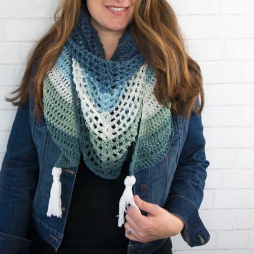 Ombre Crochet Triangle Wrap Pattern