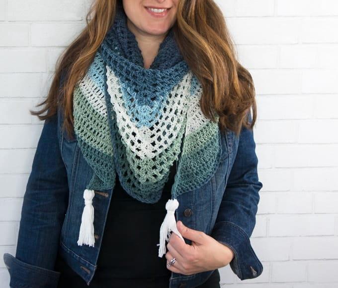 Crochet Tassels On a Scarf