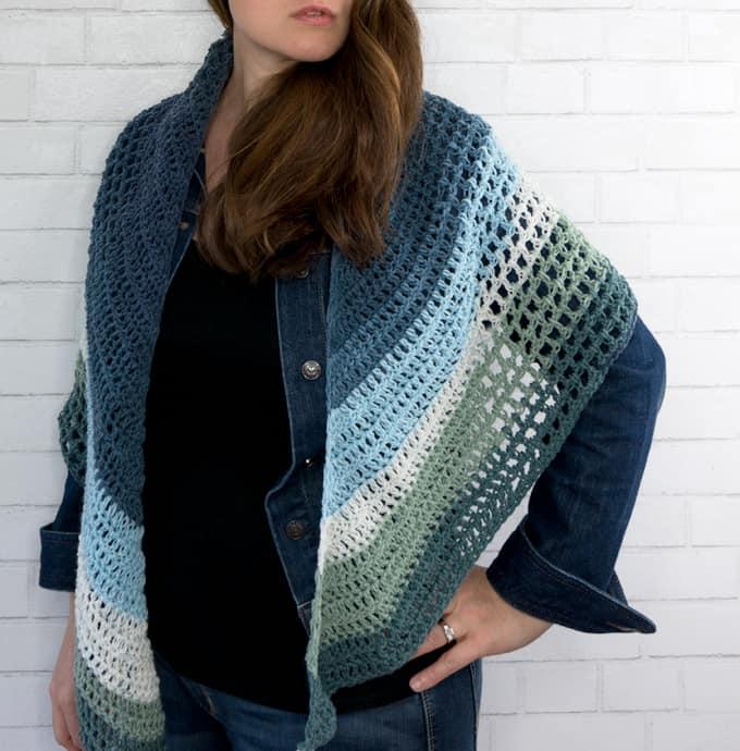 Crochet Wrap Triangle Pattern