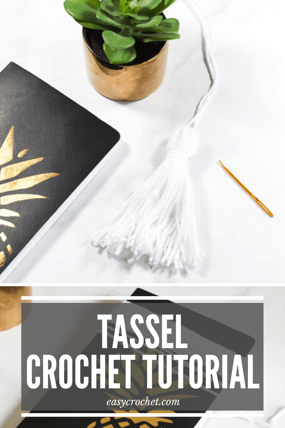 How to make a tassel for crochet patterns and projects. Easy DIY method that is easy to learn! via @easycrochetcom