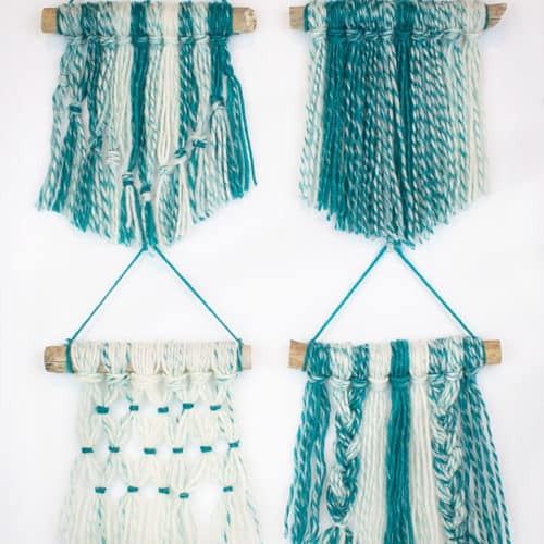 30 Minute DIY Yarn Wall Hangings