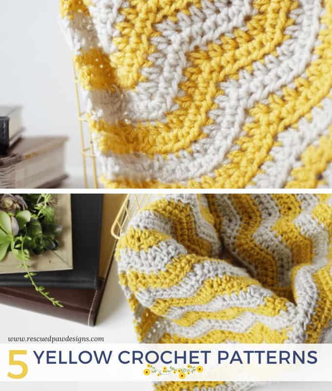 Yellow Crochet Patterns Featuring Lion Brand Yarn