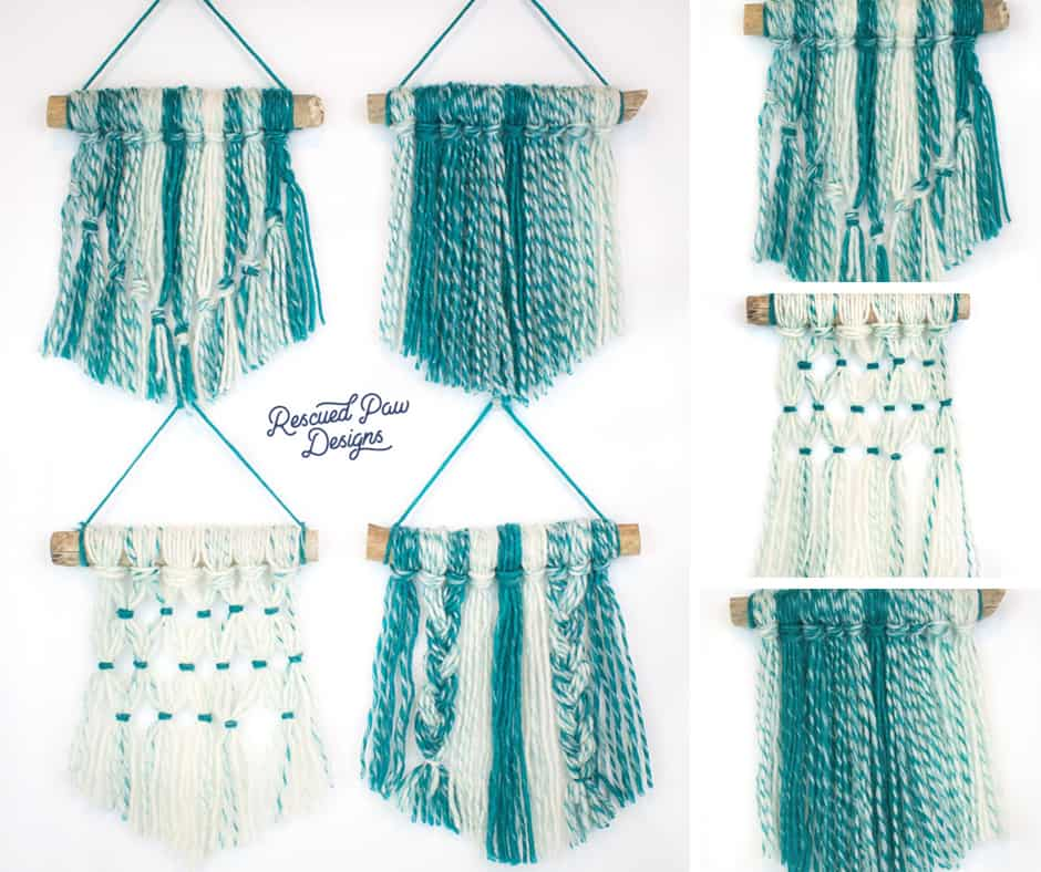 yarn wall hanging diy