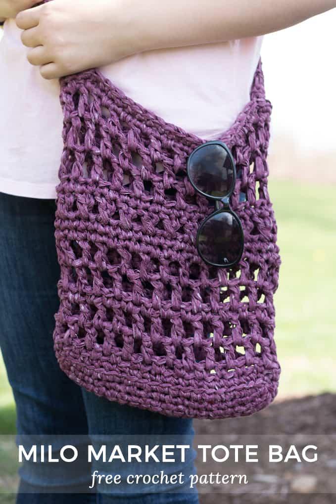 Milo Crochet Market Bag - Farmers Market Bag Crochet Pattern