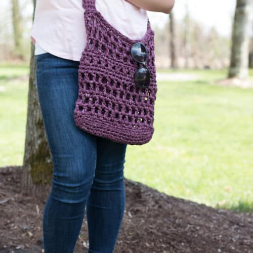 Milo Crochet Market Tote Bag