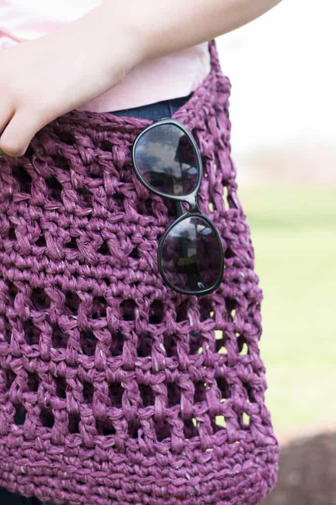 crochet mesh market bag pattern