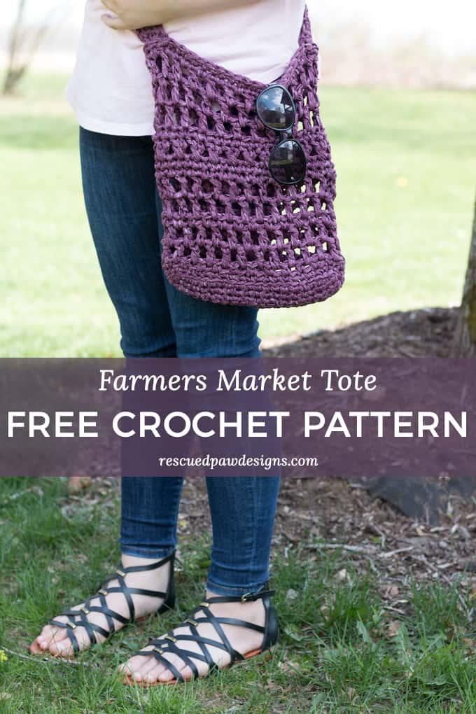Crochet Farmer's Market Bag