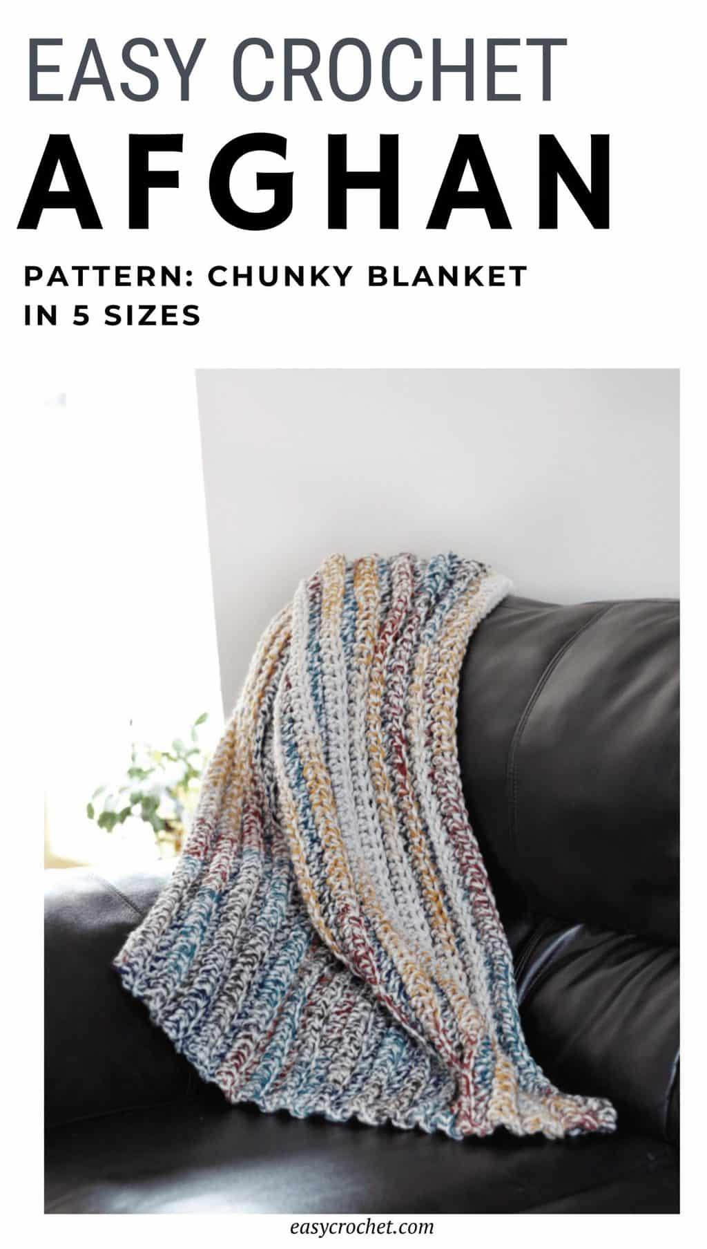 bulky yarn crochet blanket pattern via @easycrochetcom