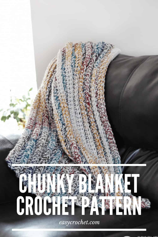 Chunky Crochet Afghan Blanket Pattern via @easycrochetcom
