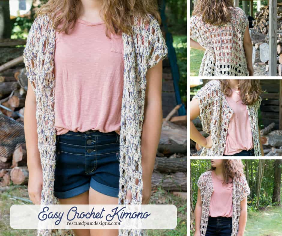 Easy Crochet Kimono Pattern Rescued Paw Designs