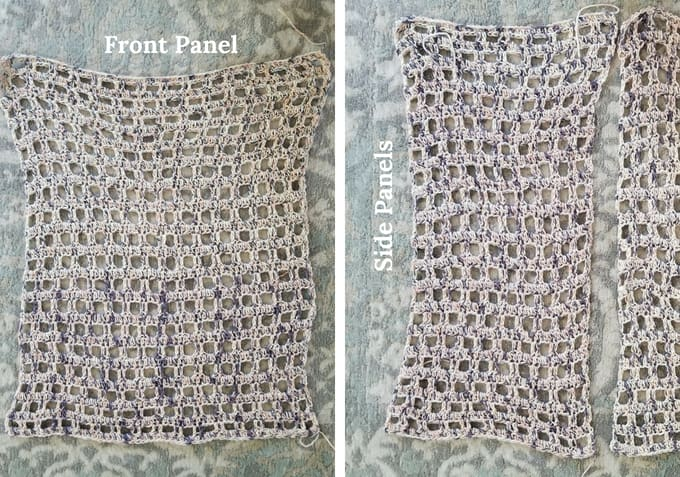 How to sew together a Crochet Kimono