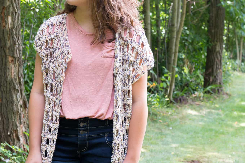 Crochet Kimono Front