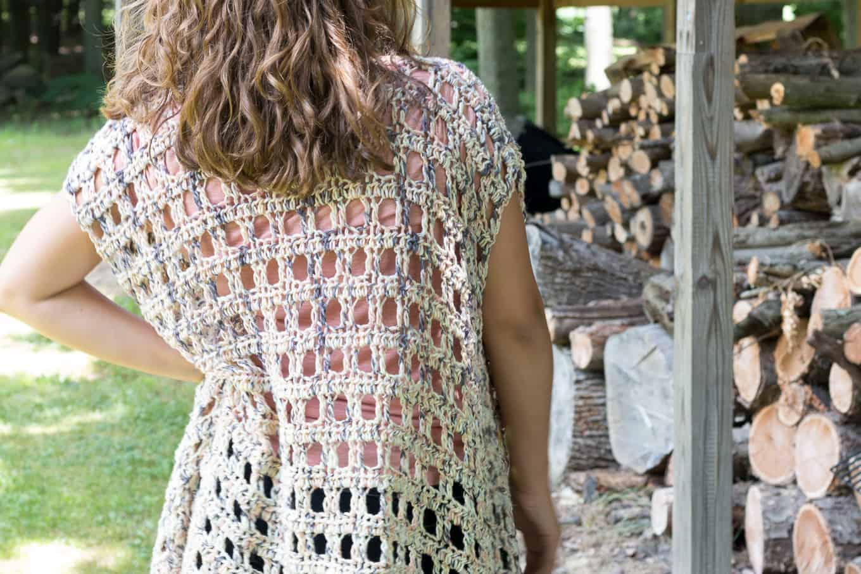 Crochet Kimono Back
