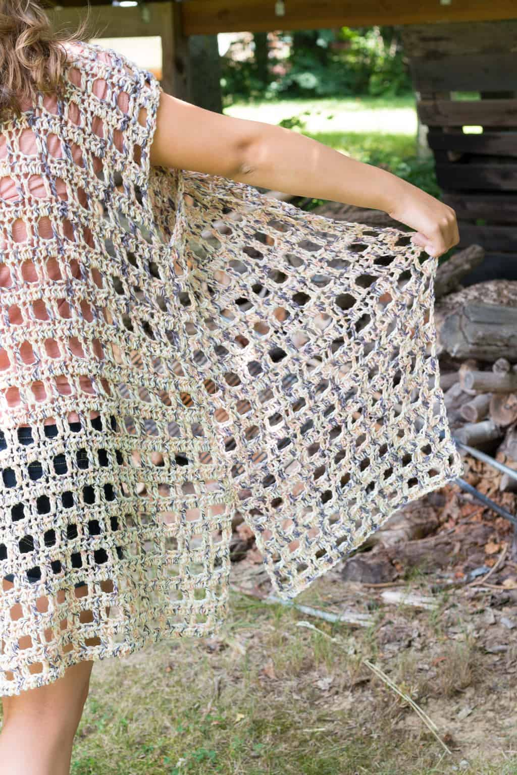 Crochet Kimono Side
