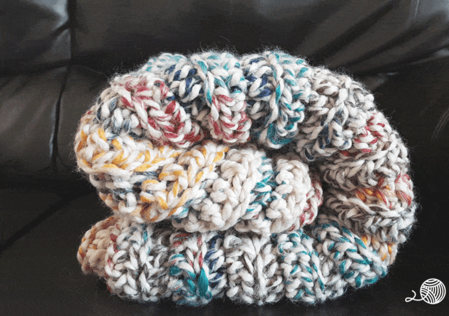 New hand crocheted mixed coloured yarn 42 inch heavy granny square blanket