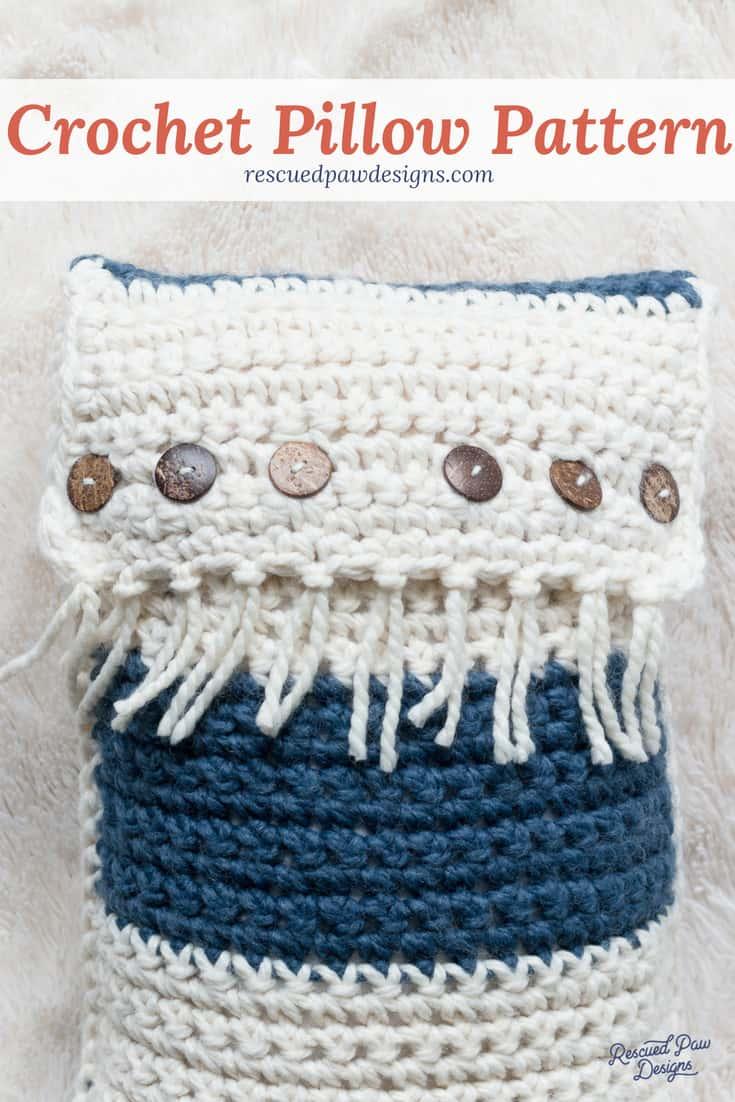 Color Block Crochet Pillow Pattern