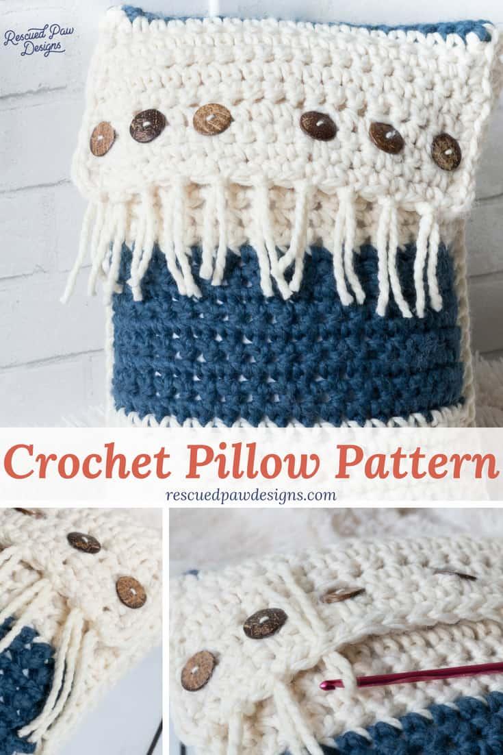 Crochet Pillow Tutorial & Pattern