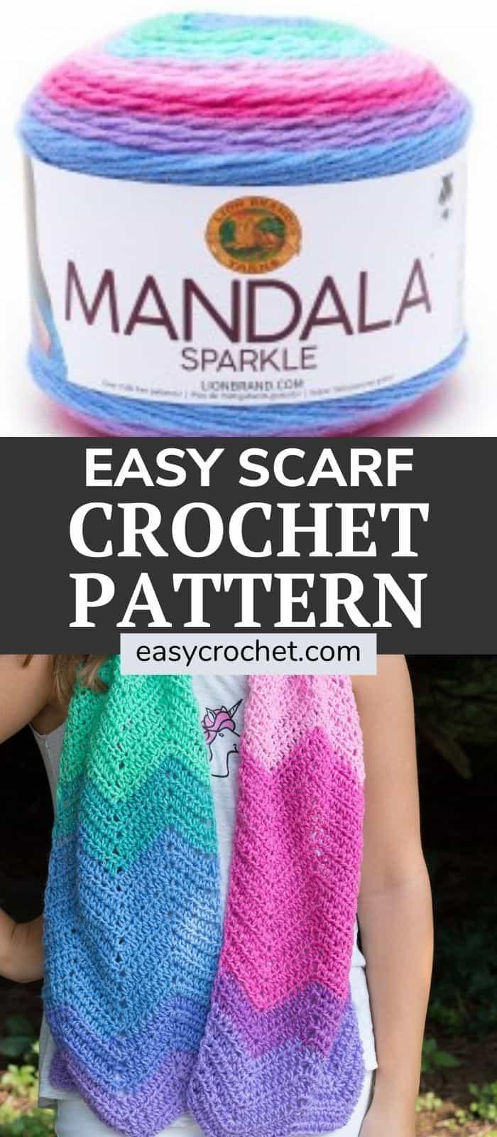 Crochet Unicorn Scarf Mandala Pattern via @easycrochetcom
