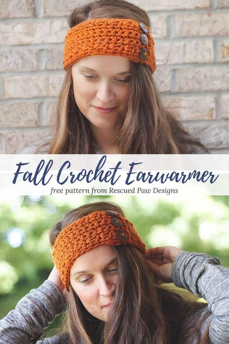 Fall Crochet Ear Warmer