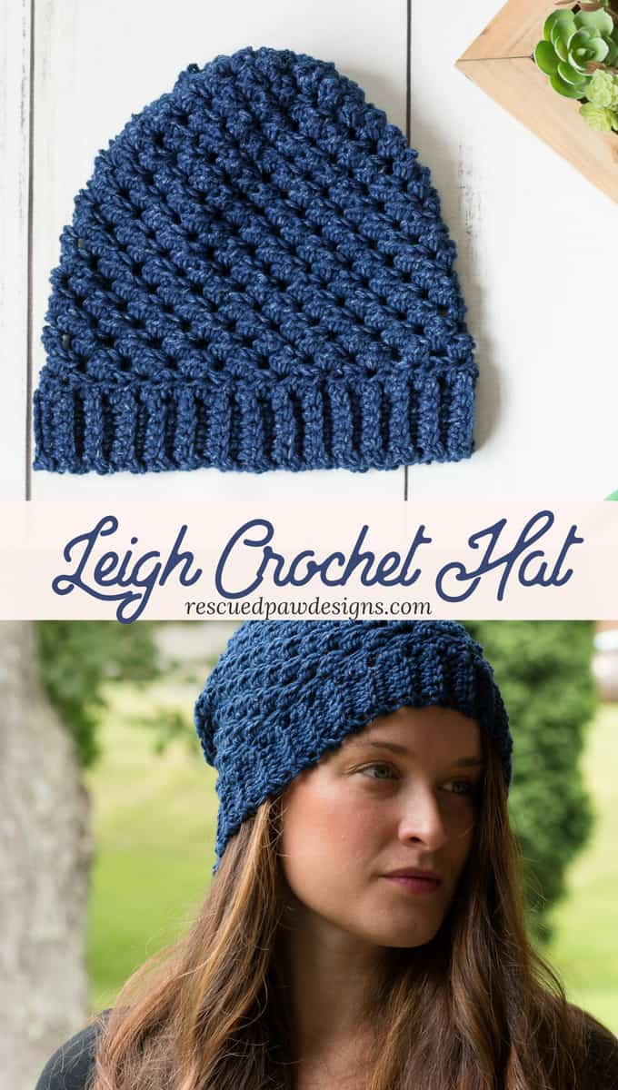 Leigh Hat Not Hate Free Crochet Pattern by Rescued Paw Designs #HatNotHate