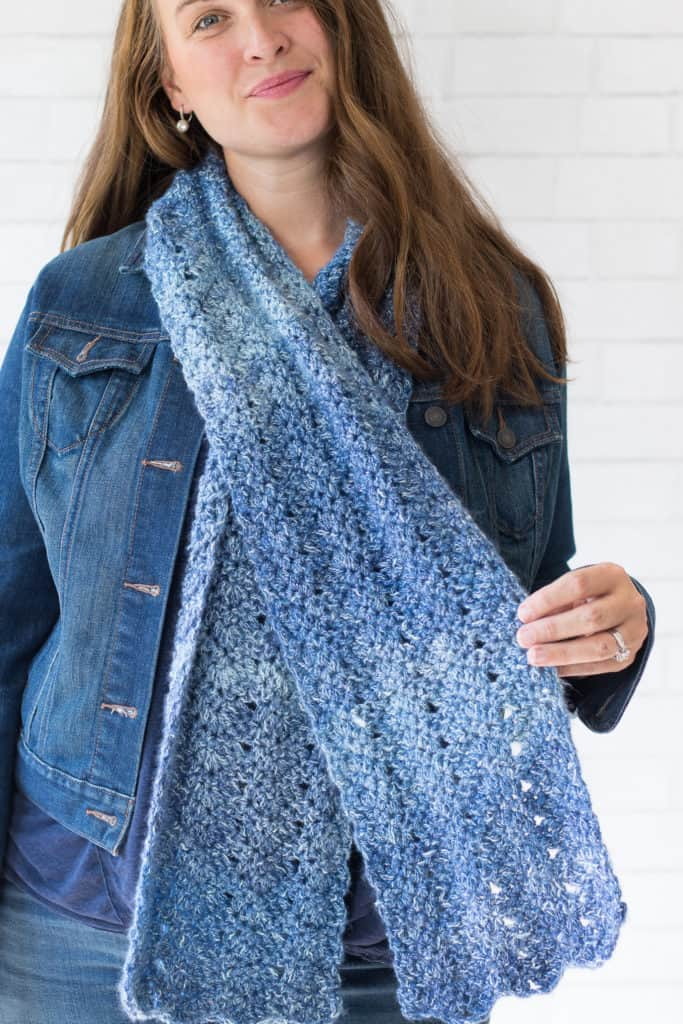 Chevron Crochet Scarf tutorial