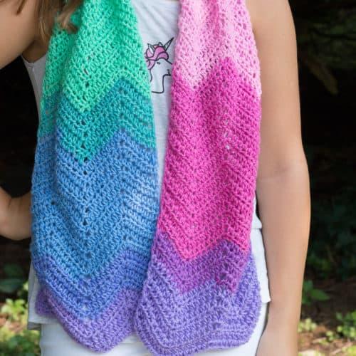 Crochet Unicorn Scarf Mandala Pattern