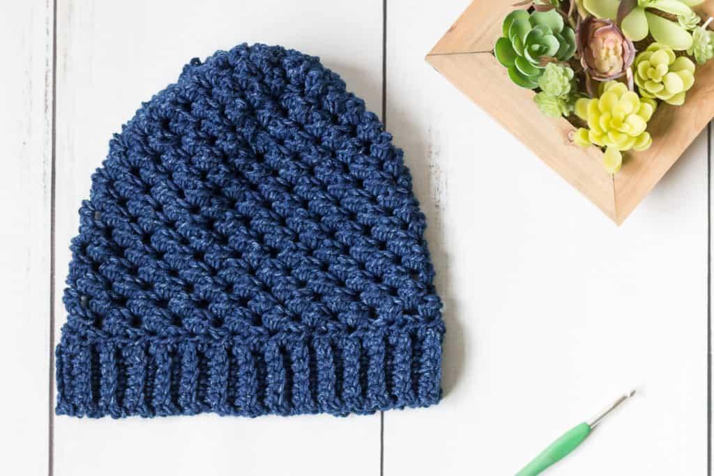 Blue Crochet Hat Pattern
