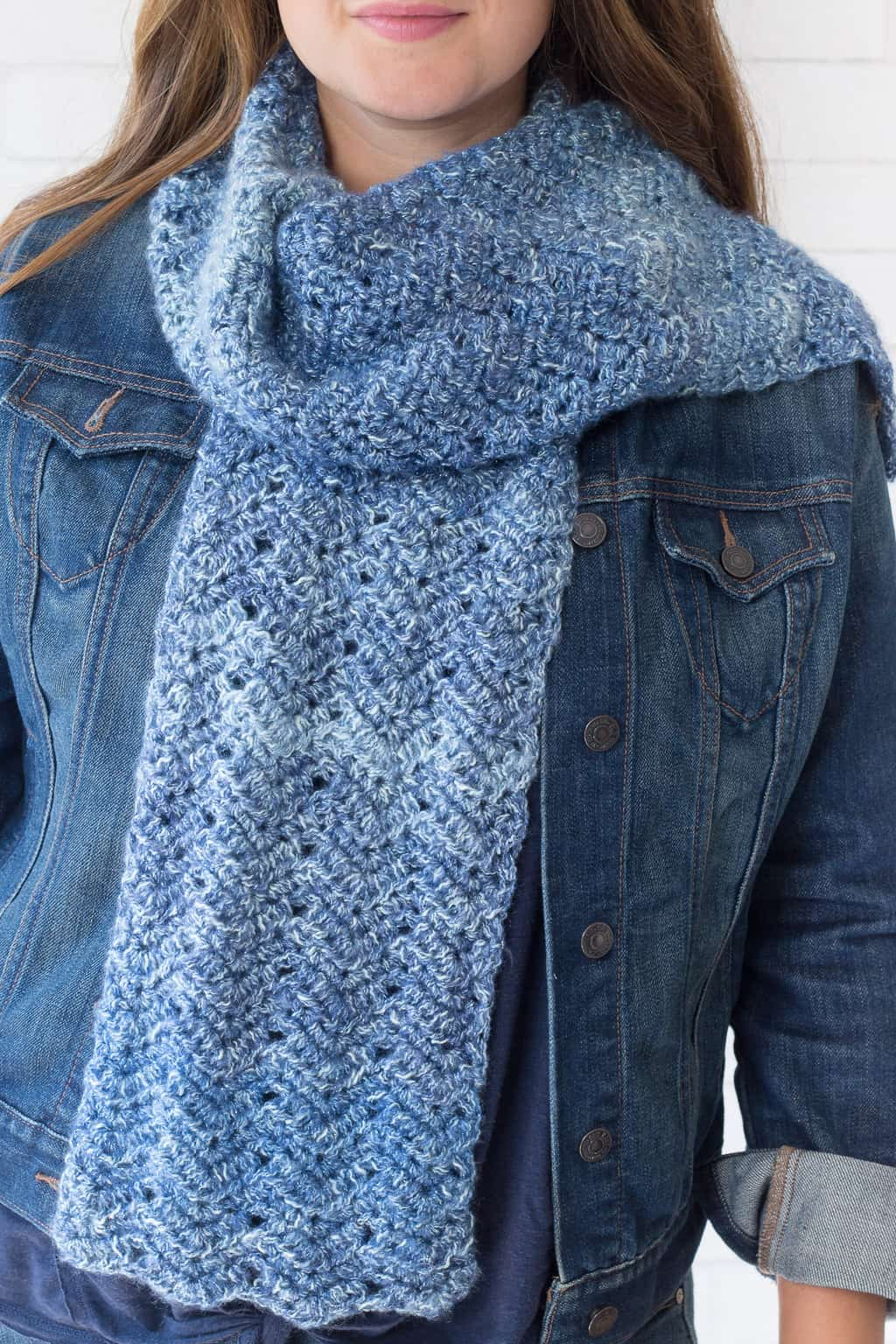 Luna Chevron Scarf Free Crochet Pattern by Rescued Paw Designs